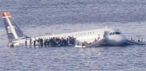 Hudson Nehri'ne iniş kazası