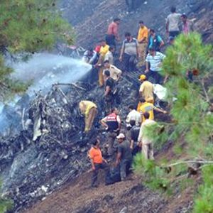 Köyceğiz'de yangın helikopteri kazası